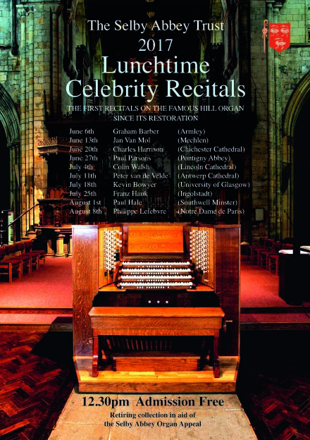 Selby Abbey Lunchtime Organ Recitals