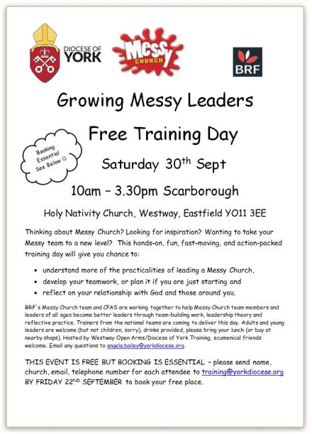 Growing Messy Leaders ~ free training day