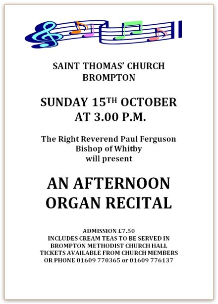 Organ Recital by the Rt Revd Paul Ferguson
