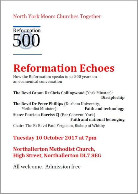 Reformation Echoes ~ How the Reformation speaks to us 500 years on — an ecumenical conversation