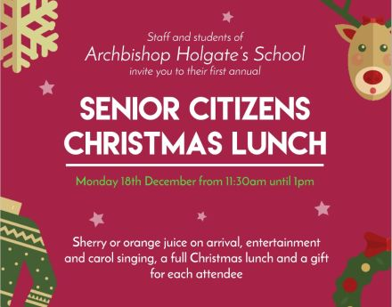 Archbishop Holgate's School: Senior Citizens Christmas Lunch