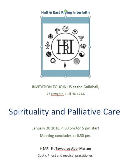 Hull and East Riding Interfaith (HERI): Spirituality and Palliative Care