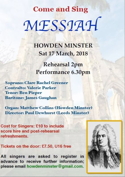 Come and Sing the Messiah: Howden Minster
