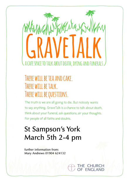 GraveTalk: A Cafe space to talk about death, dying and funerals