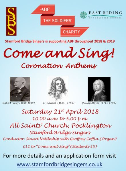 Come and Sing! Coronation Anthems with the Stamford Bridge Singers