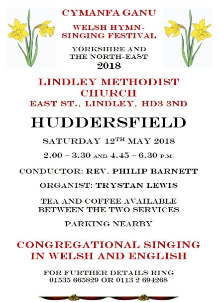 Welsh Hymn-Singing Festival: Yorkshire and The North-East 2018