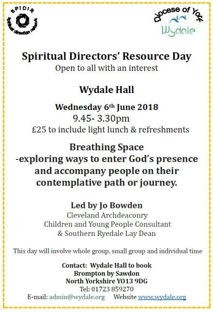 Spiritual Directors Resource Day (SPIDIR): Breathing Space