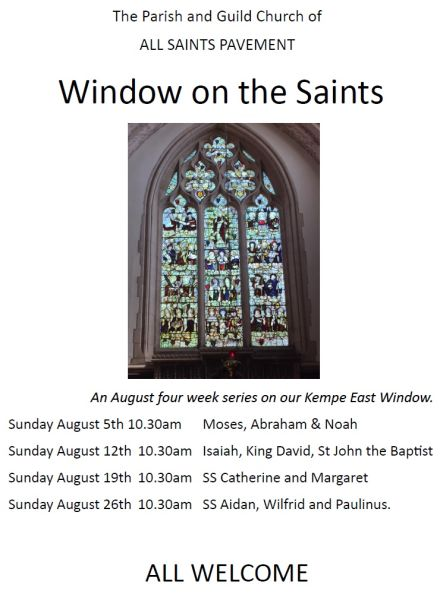 Window On The Saints Isaiah King David St John Baptist