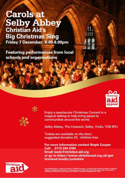 Christian Aid's 'Big Christmas Sing' at Selby Abbey