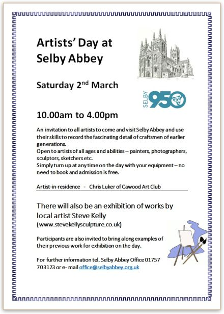Artists' Day at Selby Abbey