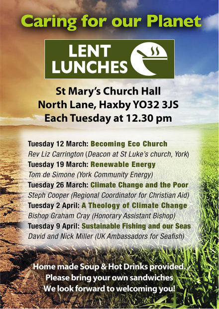 Caring for our Planet ~ Lent Lunch