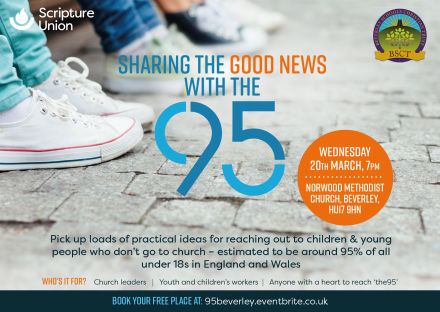 Sharing the good news with the 95% of under 18s who have no connection with the church