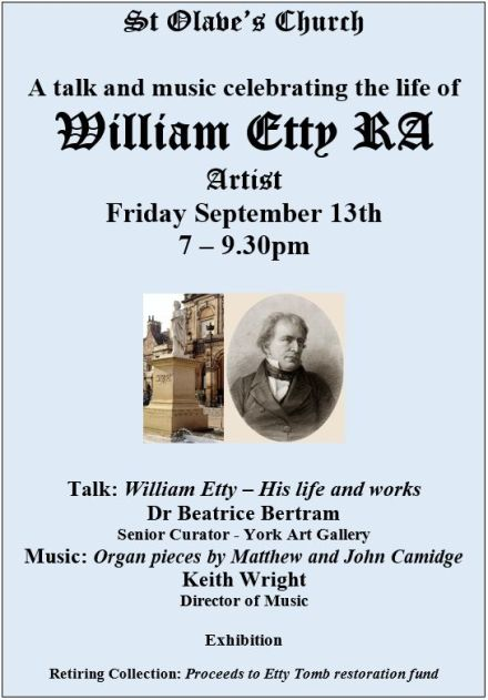 Celebrating the life of William Etty, RA @ St Olave's Church