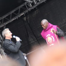 Revd Matt Woodcock and Dr Sentamu - the warm-up act